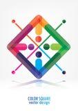 Fondo astratto variopinto di logo illustrazione vettoriale