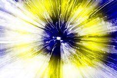 Fondo astratto variopinto, giallo e blu del batik Fotografia Stock Libera da Diritti