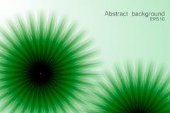 Fondo astratto verde con gli elementi circolari Fotografia Stock Libera da Diritti