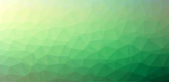 Fondo astratto verde del poligono Fotografie Stock