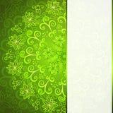Fondo astratto verde dell'ornamento floreale Fotografia Stock Libera da Diritti