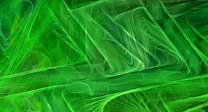 Fondo astratto verde di frattale Fotografie Stock