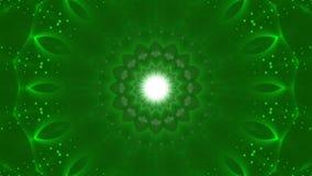 Fondo astratto verde, luce commovente, ciclo video d archivio