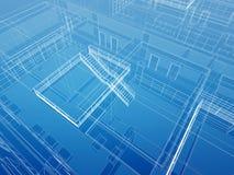 Fondo atado con alambre interior arquitectónico