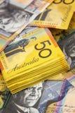 Fondo australiano del dinero Imágenes de archivo libres de regalías