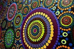 Fondo australiano indigeno della pittura del punto di arte immagine stock