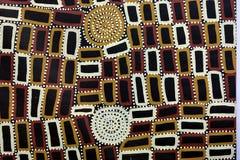 Fondo australiano indigeno della pittura del punto di arte immagini stock