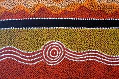 Fondo australiano indigeno della pittura del punto di arte fotografia stock