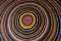 Fondo australiano indigeno della pittura del punto di arte fotografia stock libera da diritti