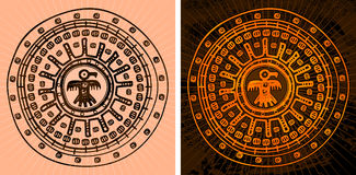 Fondo azteca Fotografía de archivo