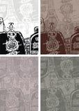 Fondo azteca Imágenes de archivo libres de regalías