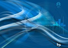 Fondo azul abstracto Stock de ilustración
