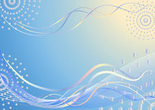 Fondo azul abstracto. Foto de archivo libre de regalías