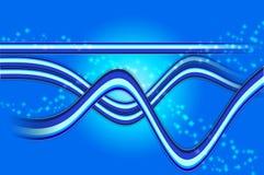 Fondo azul abstracto Ilustración del Vector