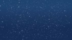 Fondo azul abstracto con el bokeh brillante, círculos, brillo Animaciones del lazo Plancton en el mar