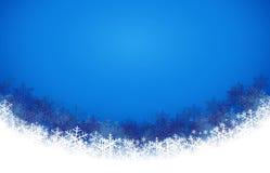 Fondo azul abstracto con el copo de nieve Ilustración del vector Imágenes de archivo libres de regalías