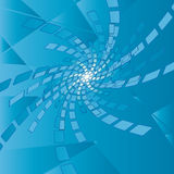 Fondo azul abstracto con el desfile - EPS Foto de archivo libre de regalías