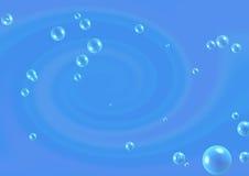 Fondo azul abstracto con las burbujas Fotografía de archivo libre de regalías