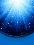 Fondo azul abstracto con las estrellas. EPS 8 ilustración del vector