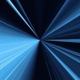 Fondo azul abstracto con las líneas ligeras el entrar concéntrico stock de ilustración