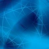 Fondo azul abstracto con las líneas meridianas - EPS Fotografía de archivo libre de regalías