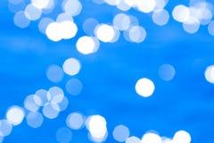 Fondo azul abstracto de agua de mar Foto de archivo libre de regalías