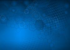 Fondo azul abstracto de diseño hexagonal/geométrico Libre Illustration