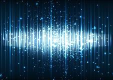 Fondo azul abstracto de efecto luminoso del espacio del vector Fotografía de archivo libre de regalías
