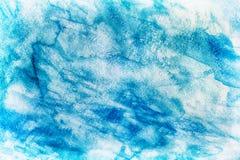 Fondo azul abstracto de la acuarela fotos de archivo