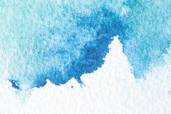 Fondo azul abstracto de la acuarela Foto de archivo