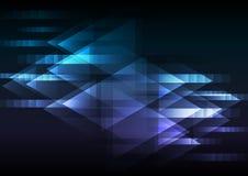 Fondo azul abstracto de la coincidencia de la flecha del movimiento Fotos de archivo