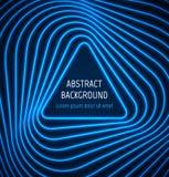 Fondo azul abstracto de la frontera del triángulo con Imágenes de archivo libres de regalías