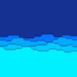 Fondo azul abstracto de la pila Imágenes de archivo libres de regalías