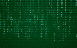 Fondo azul abstracto de la tecnología Código de ordenador binario Programación/concepto de la codificación/del pirata informático fotos de archivo libres de regalías