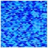 Fondo azul abstracto de los triángulos Imagenes de archivo