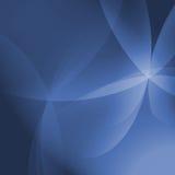 Fondo azul abstracto de Vista de la curva Fotografía de archivo libre de regalías