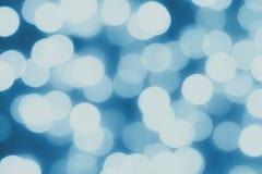 Fondo azul abstracto del bokeh, backdrob blured Foto de archivo