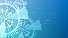 Fondo azul abstracto del botón de la tecnología del vector Imagen de archivo