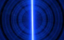 fondo azul abstracto del concepto del efecto luminoso Ondulación azul abstracta de la llamarada Libre Illustration