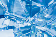 Fondo azul abstracto del cristal Foto de archivo