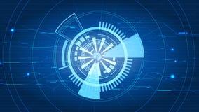 Fondo azul abstracto del interfaz de la tecnología del vector Fotos de archivo