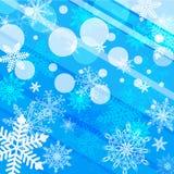 Fondo azul abstracto del invierno Fotografía de archivo libre de regalías