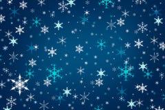 Fondo azul abstracto del invierno de la Navidad Foto de archivo libre de regalías