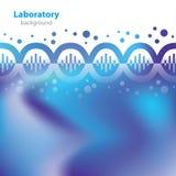 Fondo azul abstracto del laboratorio. Foto de archivo libre de regalías