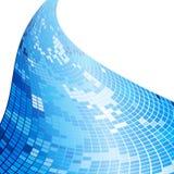 Fondo azul abstracto del mosaico Fotos de archivo