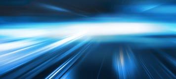 Fondo azul abstracto del movimiento de la velocidad Foto de archivo libre de regalías