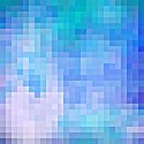 Fondo azul abstracto del pixel Fotos de archivo