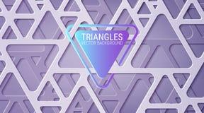 Fondo azul abstracto Entrelazamiento de figuras geométricas Triángulos con las esquinas redondeadas stock de ilustración