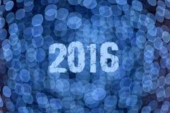 Fondo azul abstracto para 2016 próximo Imagen de archivo libre de regalías