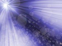Fondo azul abstracto radial. luz bokeh.blur. ilustración del vector